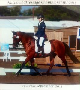 Izzy Palmer on Horse
